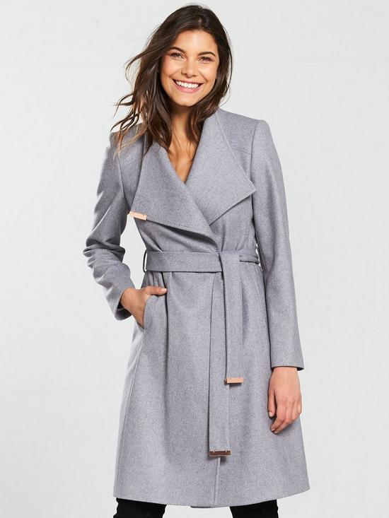 cdcdfe9cc4e6 Ted Baker Sandra Wrap Coat - Grey