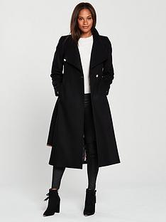 6b445941e Ted Baker Sandral Extra Long Wrap Coat - Black