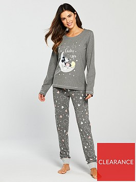 mickey-mouse-lucky-star-printed-pyjama-set-charcoal