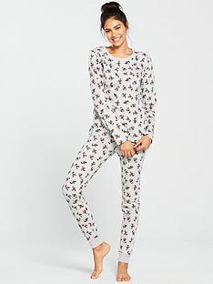 mickey-mouse-all-over-mickey-mouse-twosienbsppyjamas-grey-marl