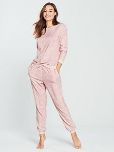 f144558e66 V by Very Animal Print Fleece Twosie - Pink