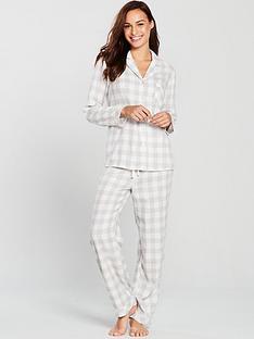 v-by-very-revere-flannel-pyjamas-grey-check