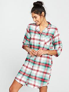 v-by-very-flannel-nightdress-checked-print