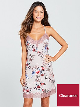 v-by-very-floral-satin-chemise-printed