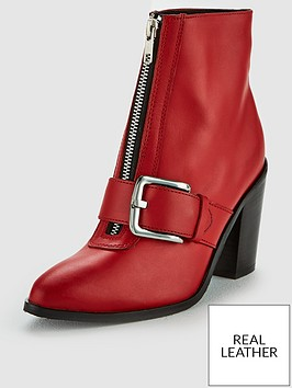 v-by-very-fleur-leather-zip-front-heel-ankle-boot-red