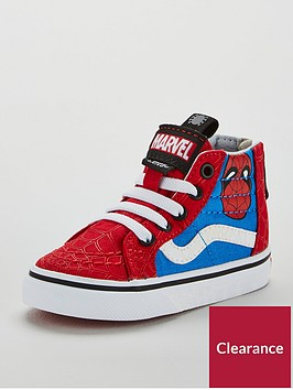 vans-sk8-hi-zip-marvel-spiderman-toddler-trainers-redblue