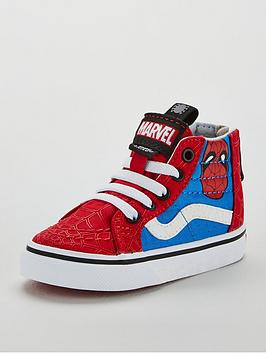 vans-vans-sk8-hi-zip-marvel-spiderman-toddler-trainer