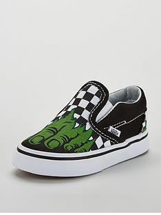 vans-vans-classic-slip-on-marvel-hulk-toddler-trainer