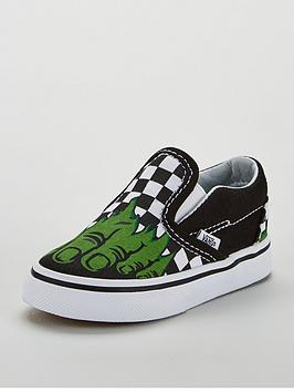 vans-vans-classic-slip-on-marvel-hulk-toddler-trainer