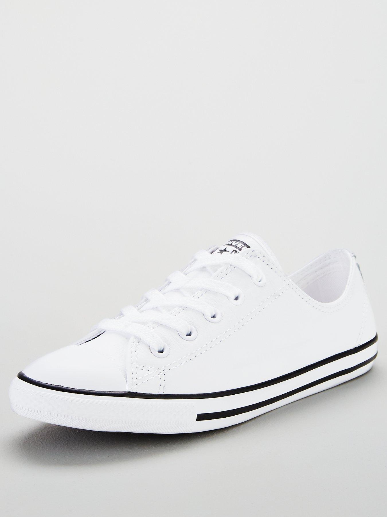 e04b94b161638 ... norway converse chuck taylor all star dainty leather ox white 4d6a9  904f7