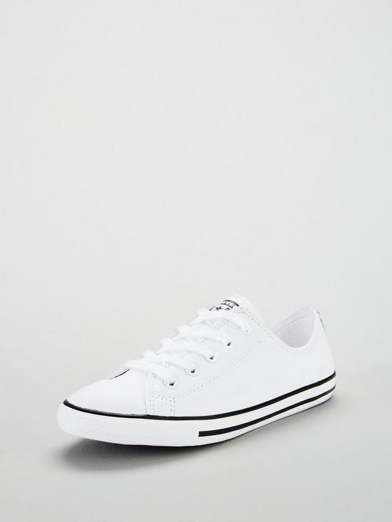 dd07f9d976f ... Converse Chuck Taylor All Star Dainty Leather Ox - White. 3 people are  looking at this right now.