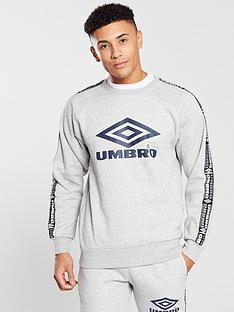 umbro-projects-taped-crew-neck-sweat-grey-marl