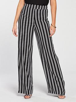 v-by-very-stripe-wide-leg-trouser-monochrome