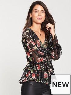 v-by-very-peplumnbsphem-blouse-blacknbsp