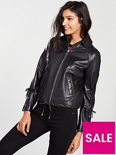 boss-casual-jeamy-leather-jacket-with-cord-details-on-sleeves-black