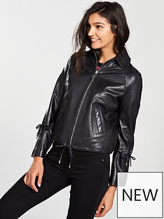 boss-orange-jeamy-leather-jacket-with-cord-details-on-sleeves-black