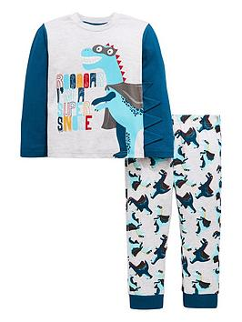 mini-v-by-very-boys-roar-im-a-super-snore-dinosaur-pyjamas-multi