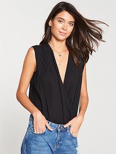v-by-very-sleeveless-wrap-body-black