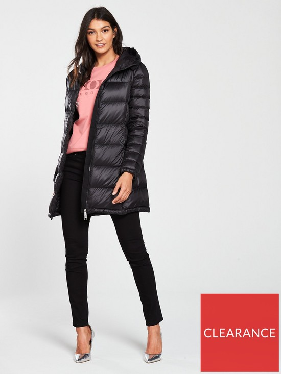 1ad4651f0455 ... BOSS Orealy Long Padded Coat - Black. View larger