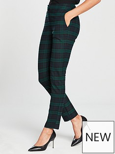 v-by-very-green-check-slim-leg-suit-trouser