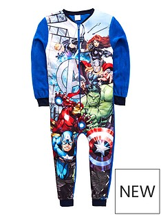 the-avengers-avengers-boys-fleece-all-in-one-multi-coloured