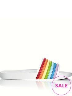 melissa-3d-rainbow-beach-sliders-white