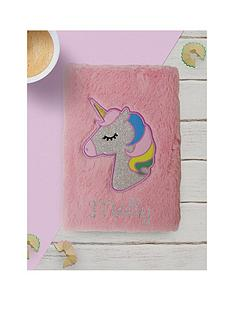 personalised-fluffy-unicorn-notebook-and-rainbow-pen