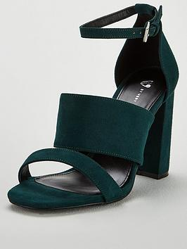 v-by-very-bess-high-block-heel-3-strap-sandal-green