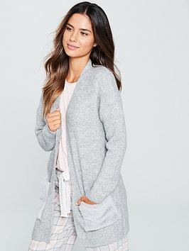 v-by-very-faux-fur-pocket-cardigan-grey