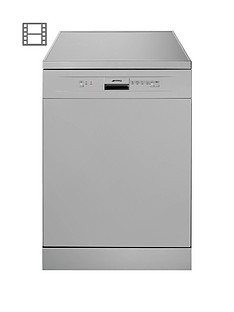 smeg-df612sve-60cmnbspwide-freestanding-full-size-12-place-setting-dishwasher-silver
