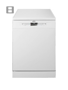Smeg DF613PW 60cm Freestanding Full Size 13-Place Setting Dishwasher with FlexiDuo Baskets - White Best Price, Cheapest Prices