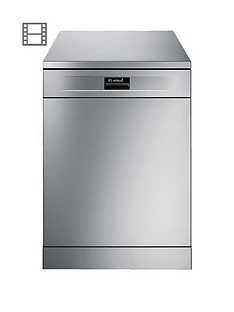 Smeg DF614PTX 60cm Wide, Freestanding, 14-Place Dishwasher with FlexiDuo Baskets - Stainless Steel Best Price, Cheapest Prices
