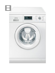 Smeg WDF14C7 7kg Wash, 4kg Dry, 1400 Spin Freestanding Washer Dryer - White