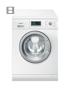 Smeg WDF147 7kg Wash, 4kg Dry, 1400 Spin Freestanding Washer Dryer - White