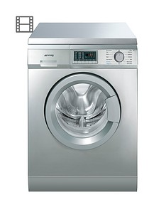 Smeg WDF147X 7kg Wash/4kg Dry, 1400 Spin Freestanding Washer Dryer - Stainless Steel