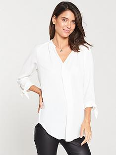 v-by-very-tie-sleeve-blouse-ivorynbsp