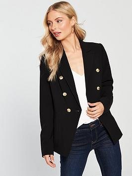 v-by-very-double-breasted-military-blazer-blacknbsp