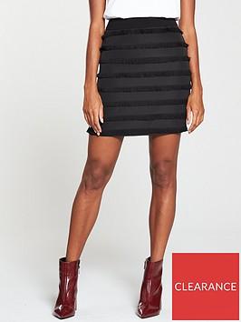 v-by-very-fringe-mini-skirt-black