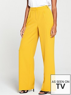 v-by-very-wide-leg-fashion-trouser-mustard