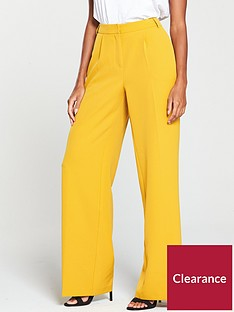 v-by-very-wide-leg-fashion-trouser-mustard