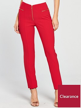v-by-very-zip-detail-cigarette-trouser-red
