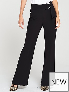 v-by-very-ring-detail-flare-trouser-black