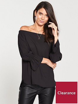 v-by-very-split-sleevenbspbardot-top-black
