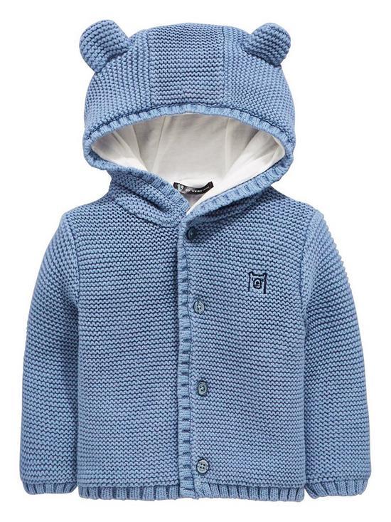 3eabef9cf V by Very Baby Boys Soft Knit Jersey Lined Cardigan - Blue | very.co.uk