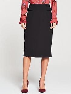v-by-very-frill-detail-pencil-skirt-blacknbsp