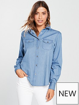 v-by-very-embroidered-denim-shirt