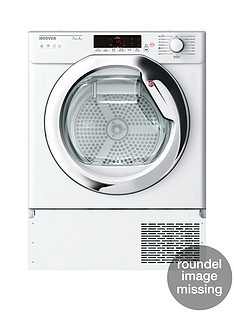 Hoover HTDBW H7A1TCE Integrated 7kg Load, Aquavision, Heat Pump, One-Fi Extra Tumble Dryer with Optional Installation - White