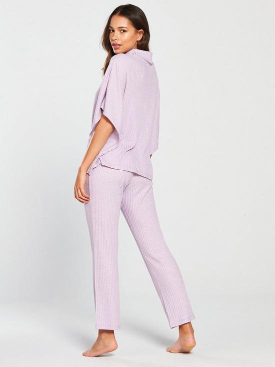 ff0df13f5a ... V by Very Wide Rib Cowl Neck PJ Set - Heather. 2 people have looked at  this in the last couple of hrs.