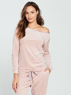 v-by-very-slouchynbspfit-velour-sweat-top-pink