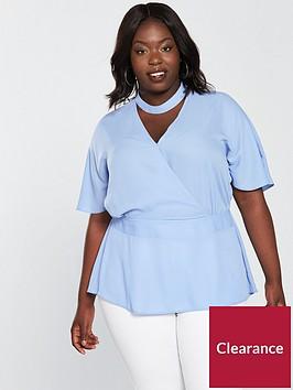 v-by-very-curve-choker-wrap-blouse-pale-blue